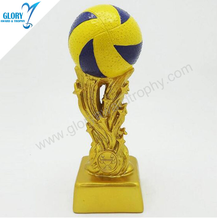 Custom Us Open Mario Resin Volleyball Trophy Celebrations