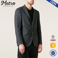 Customized high quality classic grey cotton mens blazer coat
