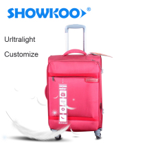 Factory Wholesale Colorful Lightweight Soft fabric Trolley Bag Set Wheeled Suitcase Travelling Luggage