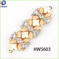 HW5603 renqing shoe collection rhinestone nude resin thong Flip Flops ornaments