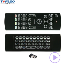 Environment-friendly 2.4G RF wireless technology MX3 Backlit tv universal remote control for akai tv