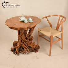 High sales quantity root carving dining table made in China