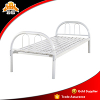 Hot sale steel cheap hostel single bed metal folding frame military bed