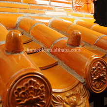Glazed roof tiles in Buddhism