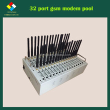 Multi-Band 32 ports WCDMA/GSM/GPRS/EDGE modem for bulk SMS MMS Voice fax low price multi sim modem