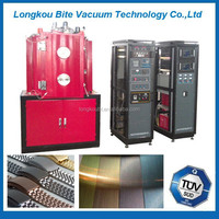 stainless steel roofing tiles PVD coating machine/Coloured stainless steel facades Titanium coating machine