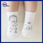 Custom Long socks,White cotton baby infant socks