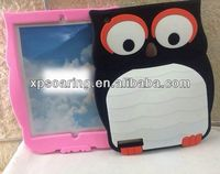 high quality silicone case for ipad 3, owl silicone case for ipad 2 ipad 4
