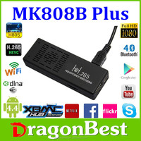 dragonbest hot sale MK808b linux TV stick dongle H.265 mk808 mini android stick for andriod smart tv box