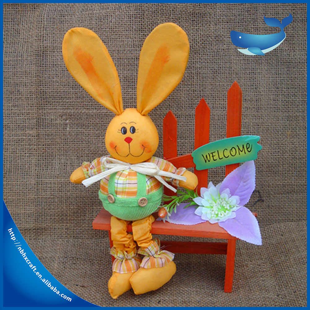 Handmade lovely rabbit Holiday Gift Easter decoration high quality
