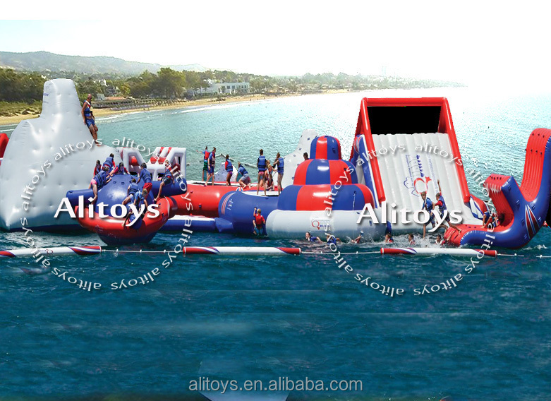 inflatable floating water park, inflatable commercial water park, giant inflatable water park