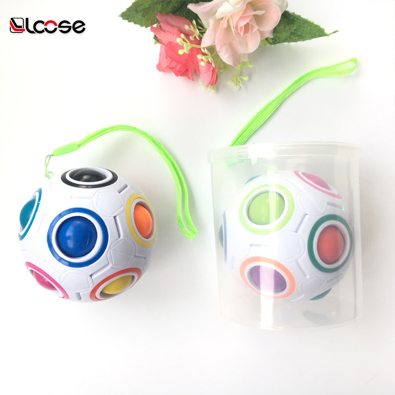 New Intelligence Soccer Cube Magic Rainbow Ball Relieve Strees Toy