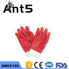 PVC coated rough surface safety working gloves with wholesale price