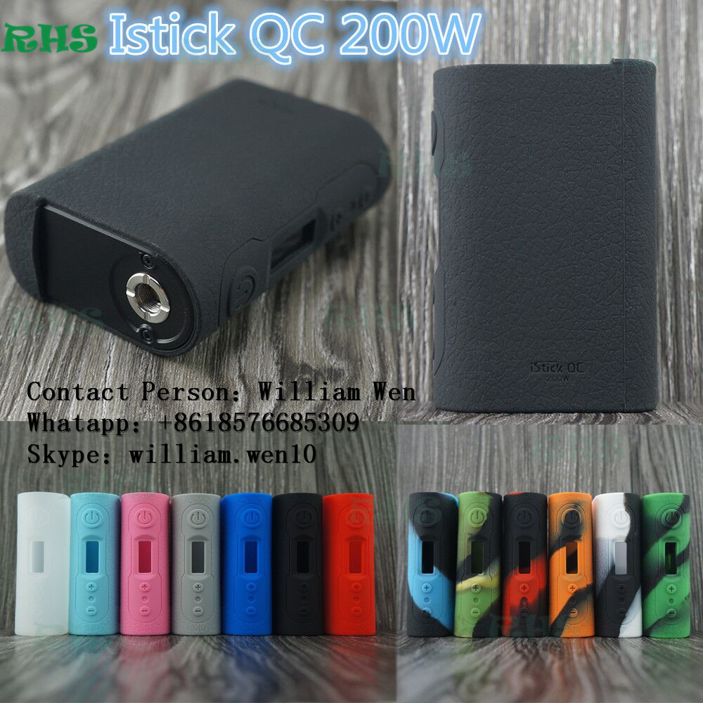 2017 Alibaba Newest Eleaf Starter Kit Eleaf istick QC 200w with melo 300 silicone case cover thicker tactile and tough