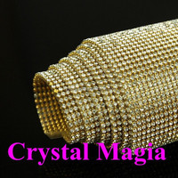 24 wedding cup chain wholesale rhinestone trim diamond decoration