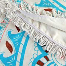Factory direct sale round swan beach towels