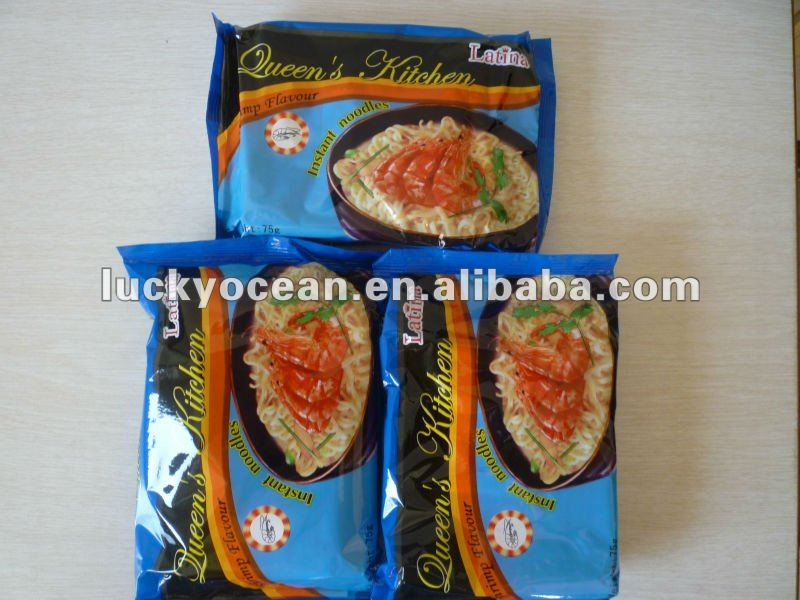 Chinese flavor Instant noodles low fat vitamin E 75g