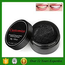 100% Natural organic Activated Charcoal Teeth Bleaching Powders add mint or not