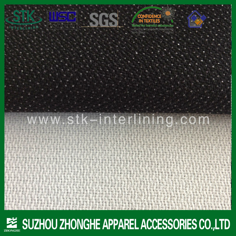 Weave non woven fusible fabric for garment coat inner interlining