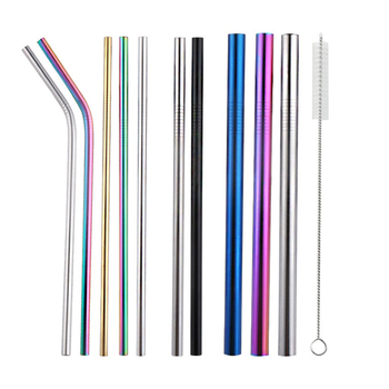 Food grade stainless steel straws with customized logo reusable drinking straw