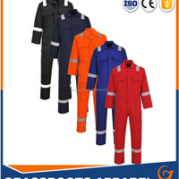 Flame Retardant Coverall Of Blue Red