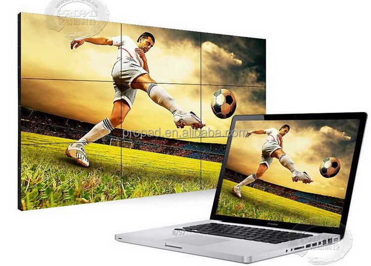 Advertising HDMI/VGA/DVI 2x2 55 inch 3.5mm lcd video wall