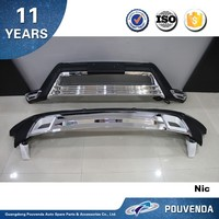 ABS Front and Rear bumper For Toyota Highlander 2012 bumper guard with LED light Auto accessories from pouvend