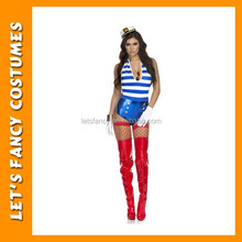 Hot sale halloween costumes sexy sailo suit of woman cosplay PGWC-3577