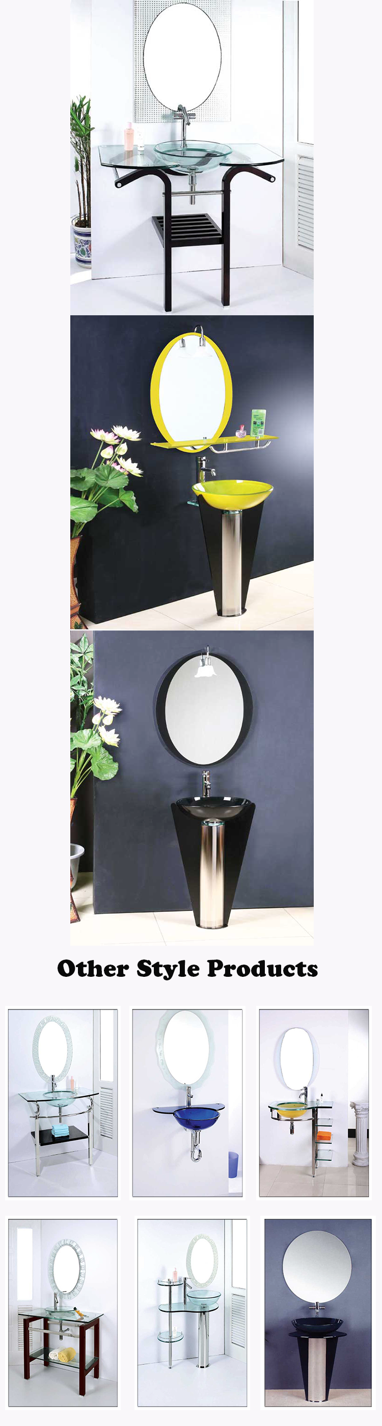 Modern Bathroom Vanities Tempered Glass Design Vessel Sink wholesale make up vanity new design modern bathroom vanity