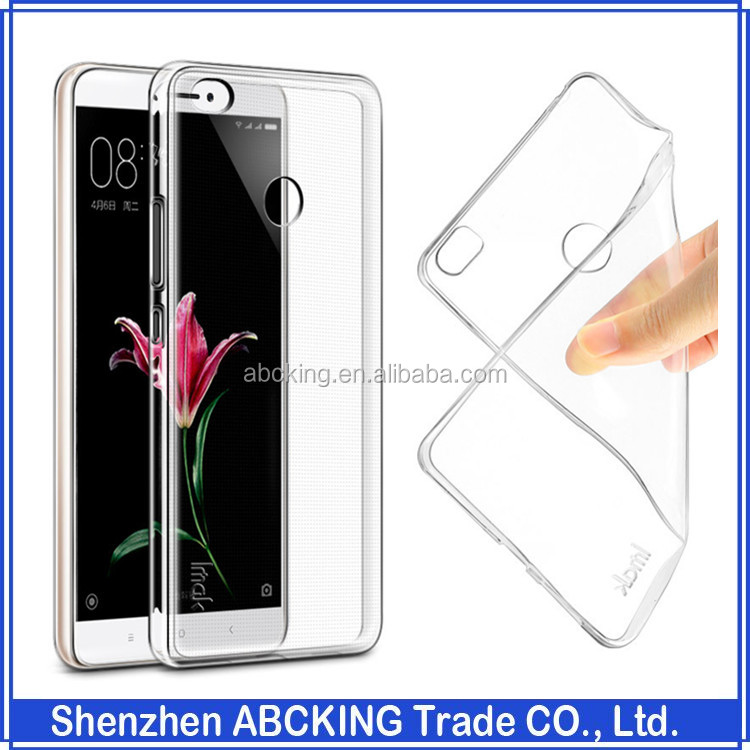 imak Ultra Thin Slim Crystal Clear Transparent soft Back Cover Case for Xiaomi max redmi note 3