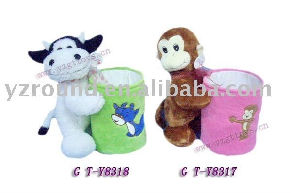 The forest animals matching matches luxurious multi-functional storage barrel series of plush toys