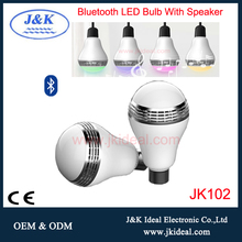 JK102 Colorful bulb LED light mini 5w e27 blue tooth wireless speaker