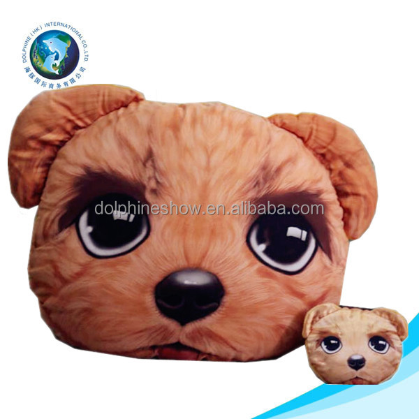 Funny cheap home sofa throw decorative pillow wholesale fashion plush animal dog 3d cushion