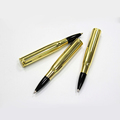 Wholesale Promotional Gifts Customized Logo Gold Bullet Shape Ballpoint Pen On Sale