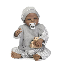 wholesale cheap eco friendly kids toys silicone black reborn baby dolls for sale