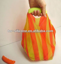 Silicone bag carrier holder