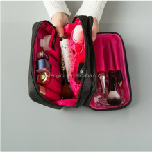 wholesale big capacity professional beauty wholesale polyester cosmetic bag
