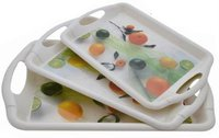Designer food serving trays