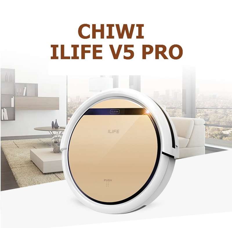 ILife V5 Pro CHUWI intelligent Mop Robot Vacuum Cleaner for Home, Golden lid HEPA Filter,Sensor,household cleaning