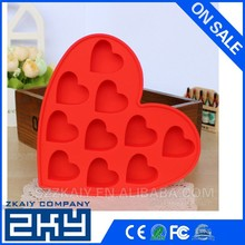 Latest hot sale diamond shapes silicone ice cube tray for christmas