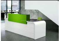 wholesale acrylic solid surface reception counter top, composite marble stone Hotel reception desk