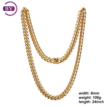 Hot Sale Gold Plated Fashion Men Necklace For Hip Hop