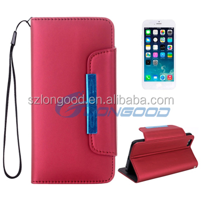 PU leather wallet case for iphone , Leather case for Iphone6 4.7''