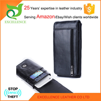 Leather wallet cell phone case Rfid Wallet OEM/ODM Factory 25 Years' Experience