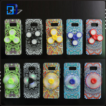 Hot sale soft tpu phone case led light fidget spinner case for samsung galaxy s8