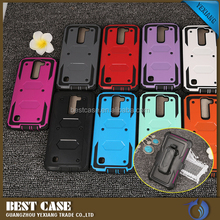Newest 3 In 1 TPU+PC Shockproof Phone Case Custom For LG K7 With Belt Clip