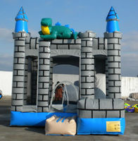 inflatable dinosaur bounce house, combo jumper B3055