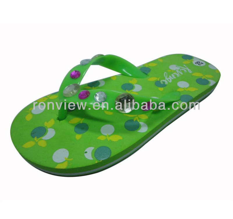 Latest girls flat EVA slipper with jelly thong
