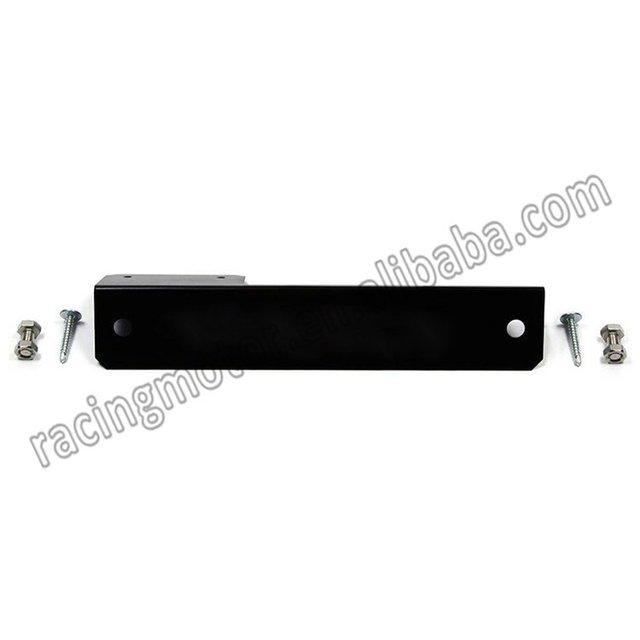 NiceCNC Custom Universal Precision Black Aluminum Front Bumper Relocate License Plate Bracket Mount