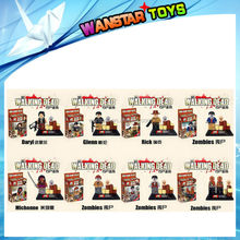 Wholesale 8pcs/set Corpse Zombie The Walking Dead Assemble building blocks sets minifigures Rick/Michonn